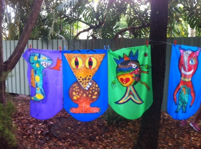 Woodford Folk Festival - Monster Flags by local schools children